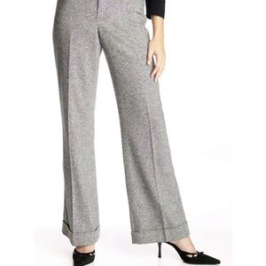 The Limited gray tweed slacks cuff 4 pants trouser